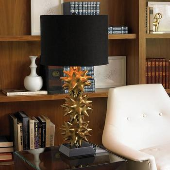DwellStudio Urchin Lamp in Gold And Black, DwellStudio