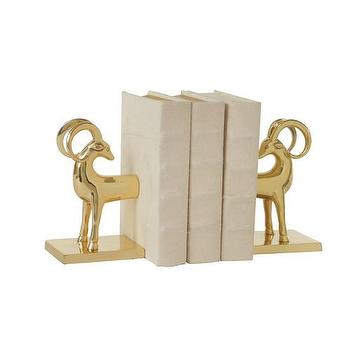 Decor/Accessories - DwellStudio Gazelle Bookends | DwellStudio - brass gazelle bookends, vintage style brass gazelle bookends, modern brass gazelle bookends, gazelle bookends,