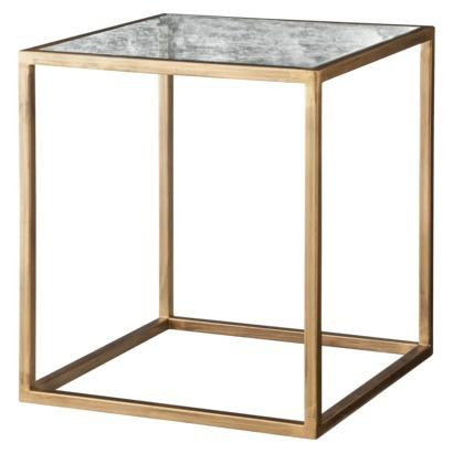 Tables - Nate Berkus Accent Table - Gold and Antiqued Glass I Target - gold table with glass top, gold accent table with antiqued glass top, gold side table with antiqued glass top,