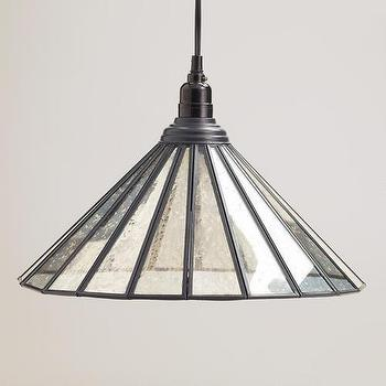 Lighting - Mercury Glass Paned Pendant | World Market - mercury glass pendant, mercury glass paned pendant, mercury glass pendant light,