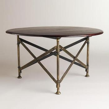 Tables - Walker Campaign Coffee Table | World Market - campaign coffee table, folding campaign coffee table, round campaign coffee table,