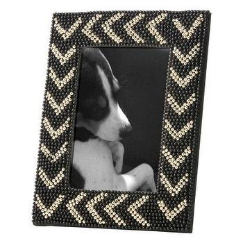 Decor/Accessories - Nate Berkus Beaded Chevron Photo Frame 5x7 I Target - beaded chevron photo frame, beaded black chevron photo frame, beaded chevron picture frame,
