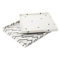 Decor/Accessories - Nate Berkus Marble Print Decorative Tray 12x12 I Target - marble print tray, square marble print tray, black and white tray,