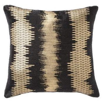 Pillows - Nate Berkus Foil Print Decorative Pillow I Target - modern black and gold pillow, black and gold foil pillow, black and gold foil print pillow,