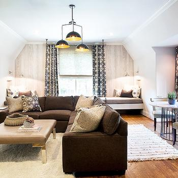 Brown Sectional, Contemporary, living room, Tracy Hardenburg Designs