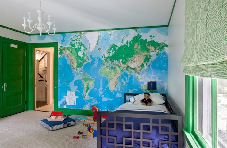 Paint Ideas For Boys RoomSpiderman Bedrooms Kids Bed Room - World map for boys room