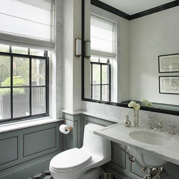 Fabric Paneled Walls, Contemporary, bathroom, Nina Farmer Interiors