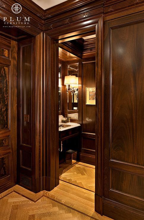 Mahogany Paneled Walls Traditional Bathroom Mcgill