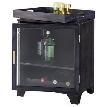 Storage Furniture - Threshold Wood Bar Table with Tray - Black I Target - bar cabinet, black bar cabinet, black bar cabinet with wooden tray,