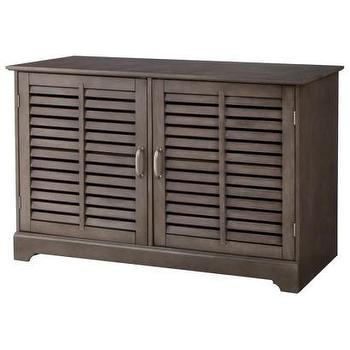 Storage Furniture - Threshold Shuttered Door Media Stand I Target - shuttered media stand, gray shuttered media stand, shuttered media cabinet,
