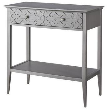 Tables - Threshold Fretwork Console Table I Target - gray console table, gray fretwork console table, modern gray console table,