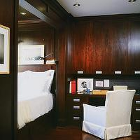 McGill Design Group - bedrooms - paneled bedroom, built in bed, built in desk,  Bedroom