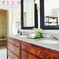 McGill Design Group - bathrooms - bathroom vanity, double bathroom vanity, grey counters, grey countertops,  Bathroom Vanity