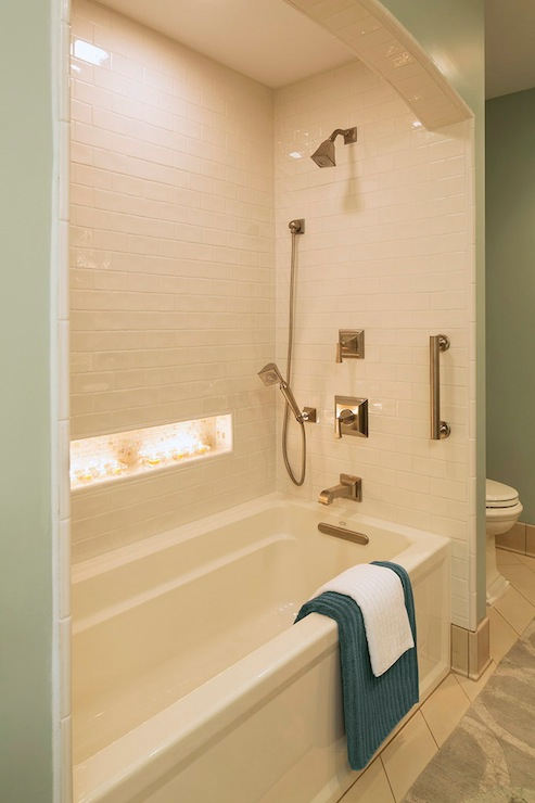 Shower Alcove Transitional Bathroom Benjamin Moore