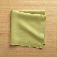 Decor/Accessories - Helena Pear Linen Napkins Set of Four | Crate and Barrel - pear green napkins, green linen napkins, pear green linen napkins,