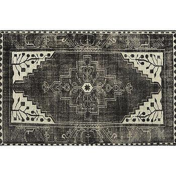 Rugs - Anice Rug | Crate and Barrel - black and white rug, black and white traditional rug, black and white persian rug,