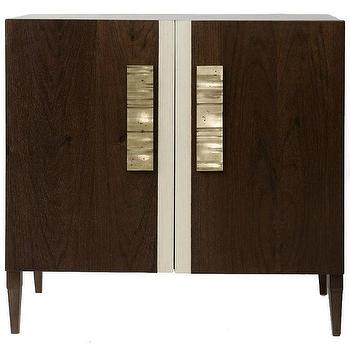 Storage Furniture - Lisa Jarvis Empire Chest I Zinc Door - espresso chest, modern espresso chest with brass hardware, mid-century modern chest,