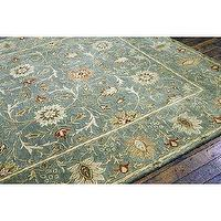 Rugs - Sarafina Rug | Ballard Designs - blue persian rug, blue and cream persian rug, blue cream and brown persian rug,