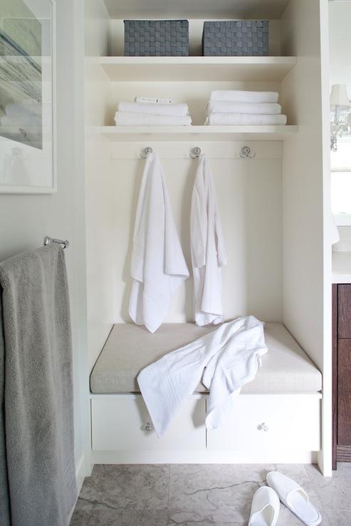 Built In Bench Contemporary Bathroom Kelly Deck Design