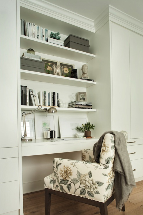 Built In Desk Contemporary Den Library Office Kelly