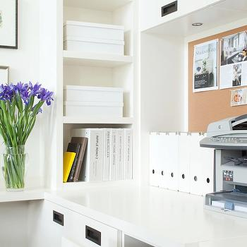 Office Built In Cabinets, Contemporary, den/library/office, Kelly Deck Design