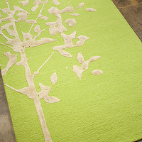 Rugs - Abstract Tree Rug - Lime I Little Crown Interiors - green tree rug, lime green tree rug, lime green abstract tree rug,