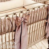 Bedding - Orchid Lilac Silk Crib Bedding Set I Little Crown Interiors - lilac silk crib bedding, purple silk crib bedding, silk crib bedding,