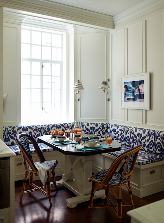 L Shaped Banquette Contemporary Kitchen Ashley Whittaker Design