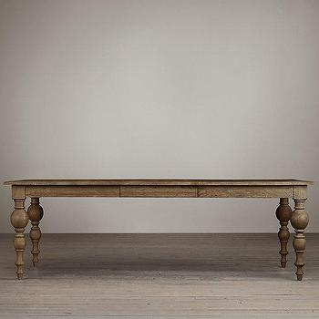 Tables - Grand Baluster Dining Tables I Restoration Hardware - weathered gray dining table, baluster leg dining table, weathered oak dining table,