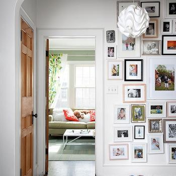 Photo Wall, Contemporary, entrance/foyer, The New York Times