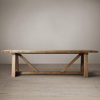 Parsons Reclaimed Russian Oak Dining Table I Restoration