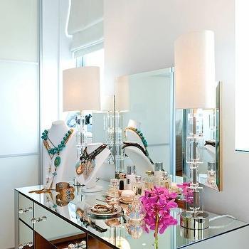 Mirrored Make Up Vanity, Contemporary, closet, Rue Magazine