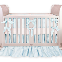 Bedding - Baby Blue Silk Crib Bedding I Little Crown Interiors - baby blue silk crib bedding, silk crib bedding, blue silk crib bedding,