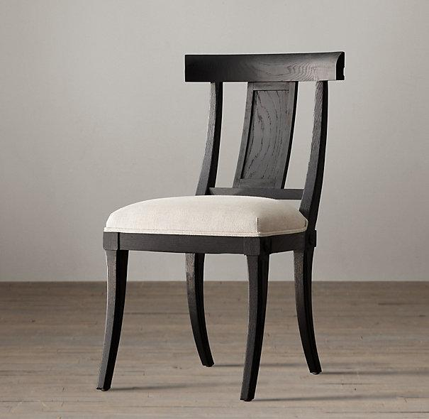 klismos wood chair i restoration hardware. Black Bedroom Furniture Sets. Home Design Ideas