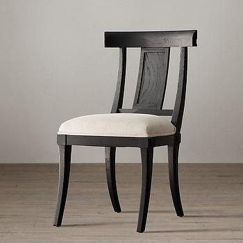 Seating - Klismos Wood Chair I Restoration Hardware - black klismos wood chair, black klismos chair, wooden klismos chair,