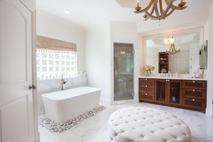 Zen Bathroom Transitional Bathroom Laura U Interior Design