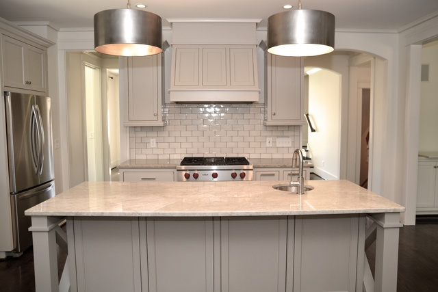 Mother of Pearl Quartzite Countertops - Contemporary - kitchen