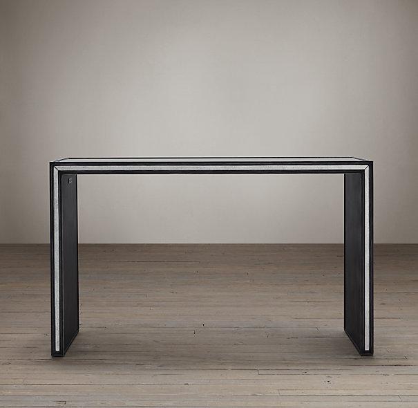 Restoration Hardware Console Table: Strand Mirrored Console Tables I Restoration Hardware