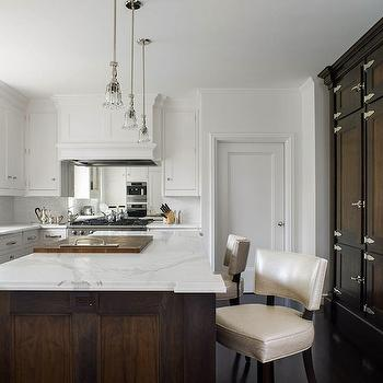 Fluted Crystal Pendants, Transitional, kitchen, Peacock Cabinetry