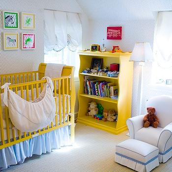 Yellow Crib, Transitional, nursery, Mona Ross Berman Interiors
