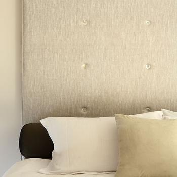 Button Tufted Headboard, Transitional, bedroom, Justine Hugh Jones Design