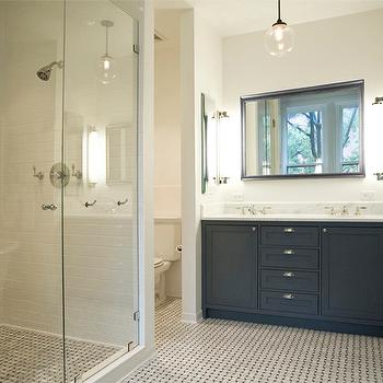 Charcoal Gray Vanity, Transitional, bathroom, Elizabeth Roberts Design