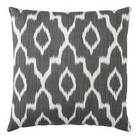 Pillows - Threshold Ikat Toss Pillow I Target - gray ikat pillow, gray and white ikat pillow, dark gray and white ikat pillow,