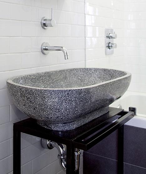 terrazzo sink modern bathroom the brooklyn home company. Black Bedroom Furniture Sets. Home Design Ideas