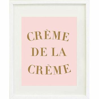 Art/Wall Decor - Creme de la Creme Print | Waiting On Martha - creme de la creme art print, pink and gold creme de la creme print, pink and gold creme de la creme art print,
