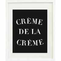 Art/Wall Decor - Creme de la Creme Print | Waiting On Martha - creme de la creme art print, black and white creme de la creme art print, black and white creme de la creme wall decor,