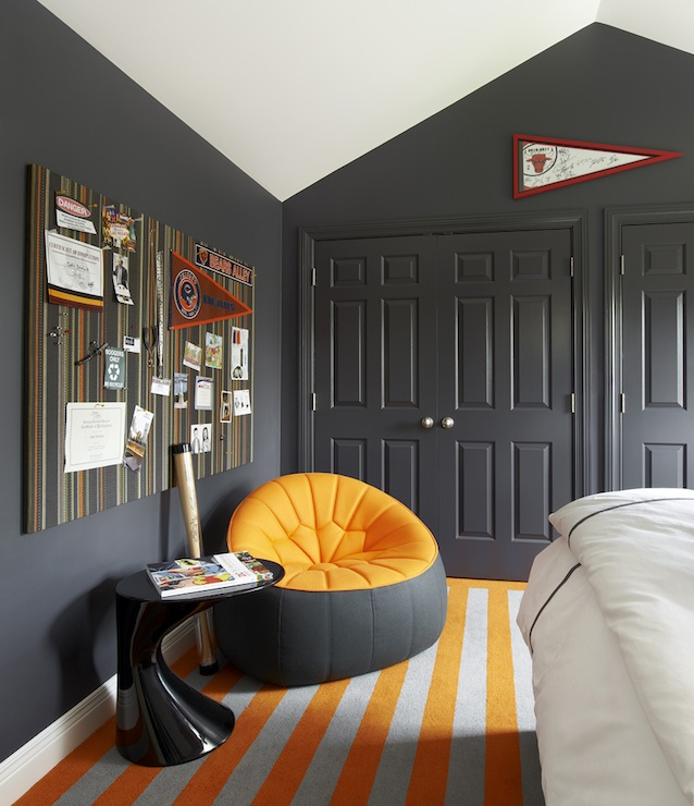 Orange And Gray Room Contemporary Boy S Room Suzanne