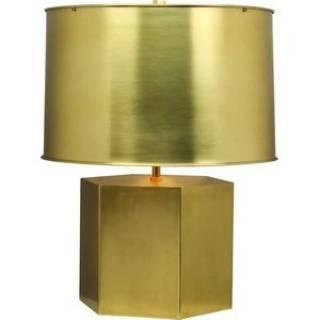 Lighting - Robert Abbey Pythagoras Table Lamp in Matte Brass I homeclick.com - brass table lamp and shade, matte brass table lamp, modern brass table lamp,