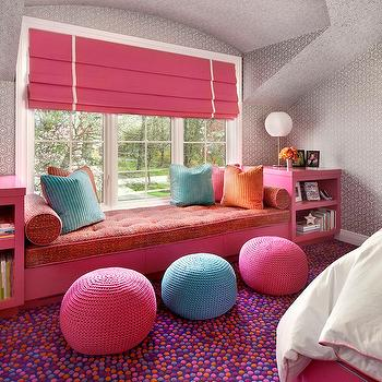 Kids Window Seat, Contemporary, girl's room, Suzanne Lovell