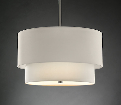 Restoration Hardware Two Tier Round Shade Pendant Look 4 Less